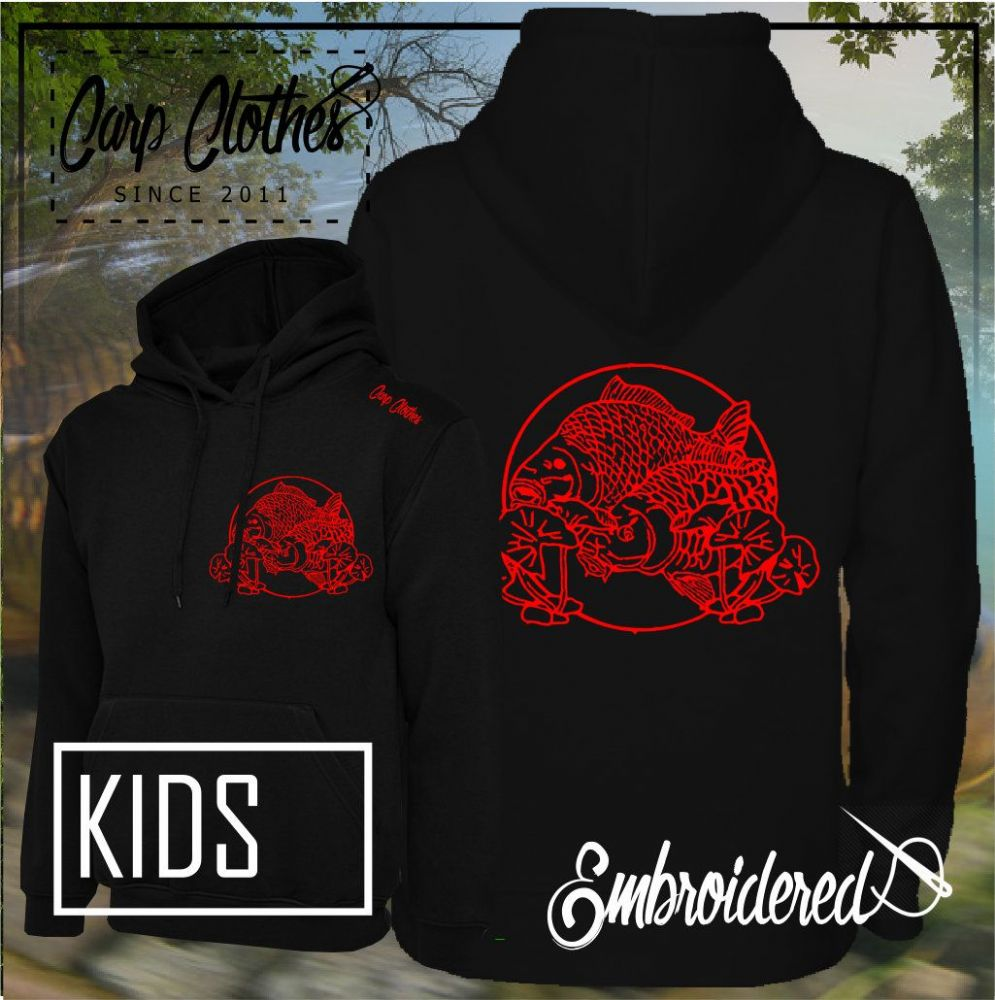 CHILD 035 EMBROIDERED CARP FISHING HOODIE